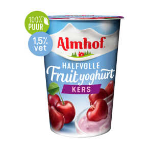 Almhof halfvolle fruityoghurt kers product photo