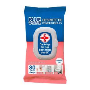 Blue Wonder Desinfectie reiniger doekjes product photo