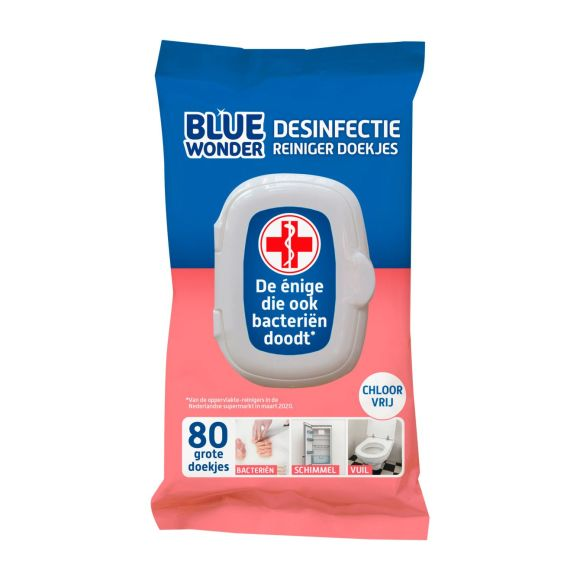 Blue Wonder Desinfectie reiniger doekjes product photo