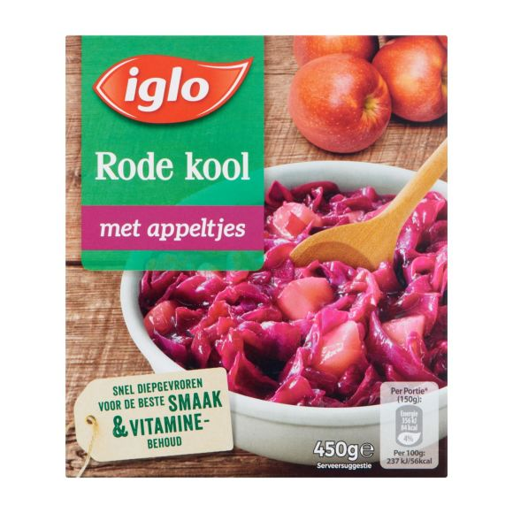 Iglo Rode Kool met Appeltjes 450G product photo