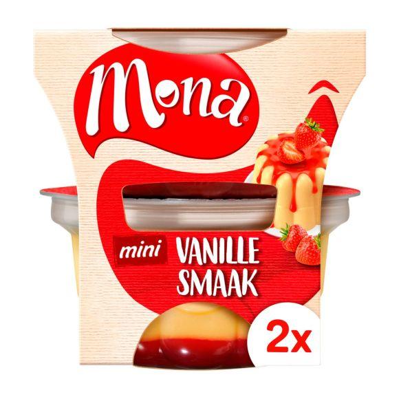 Mona Mini's vanille pudding met aardbeiensaus product photo