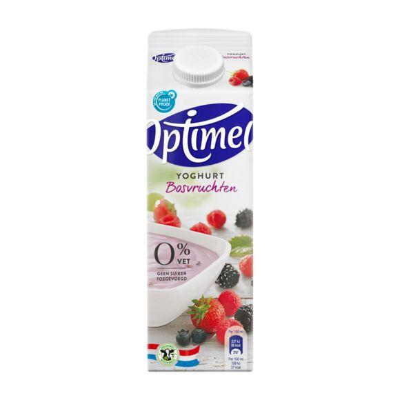 Optimel Yoghurt Bosvruchten 0% Vet 1000 ml Pak met punt product photo