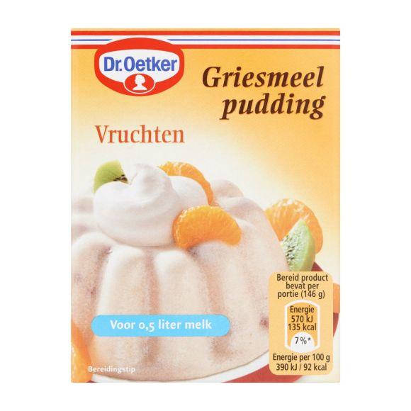 Dr. Oetker Griespudding Vruchten product photo