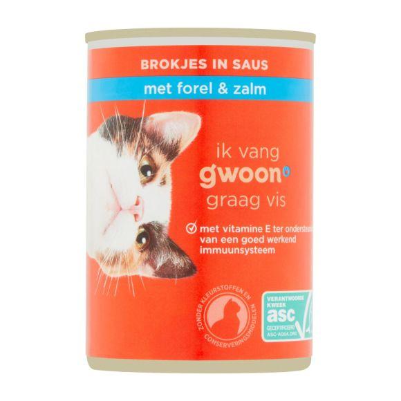 g'woon Brokjes in gelei met zalm & forel product photo