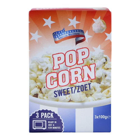 American Microwave Popcorn zoet product photo