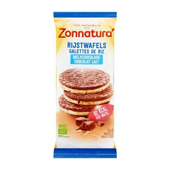 Zonnatura Rijstwafels melkchocolade biologisch product photo