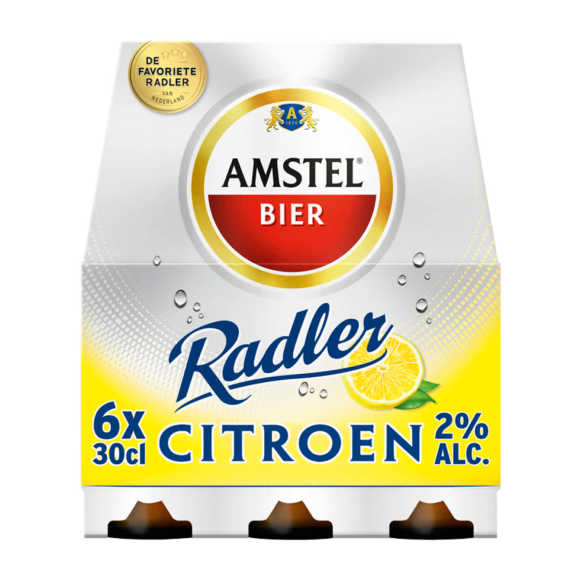 Amstel Radler citroen bier fles 6 x 30 cl product photo