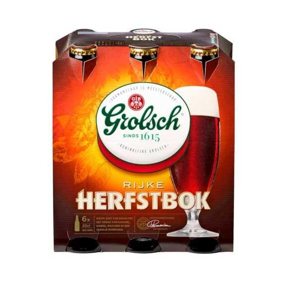 Grolsch Herfstbok bier fles 6 x 30 cl product photo
