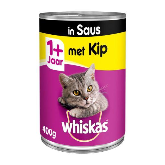 Whiskas Met kip in saus 1+ jaar product photo