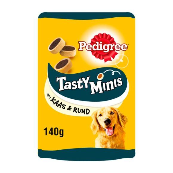 Pedigree Tasty minis cheesy bites met kaas en rund product photo