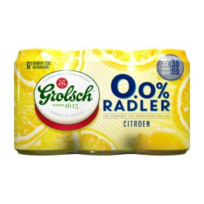 Grolsch Radler 0.0% citroen bier blik 6 x 33 cl product photo