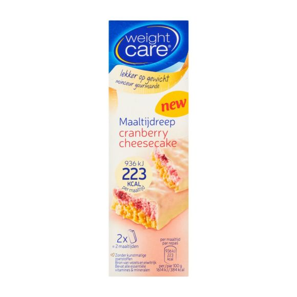 Weight Care Maaltijdreep cranberry-cheesecake product photo
