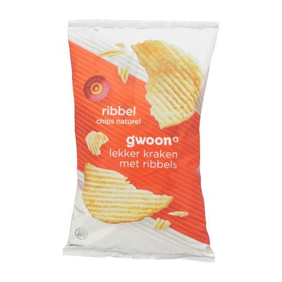 g'woon Ribbelchips naturel product photo