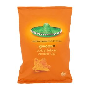 g'woon Tortilla chips nacho cheese product photo