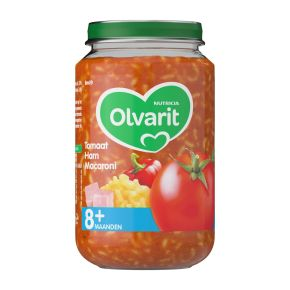 Olvarit Tomaat ham macaroni 8+ maanden product photo