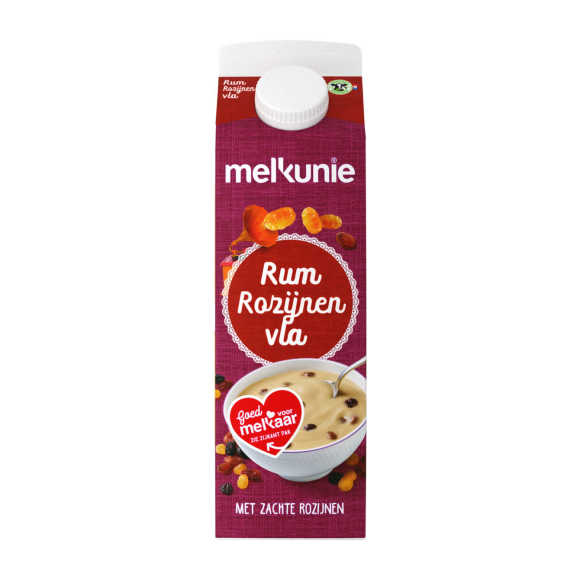 Melkunie Rum rozijnen vla product photo