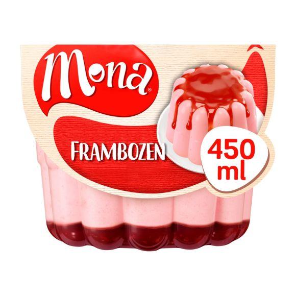 Mona Frambozenpudding met rode bessensaus product photo