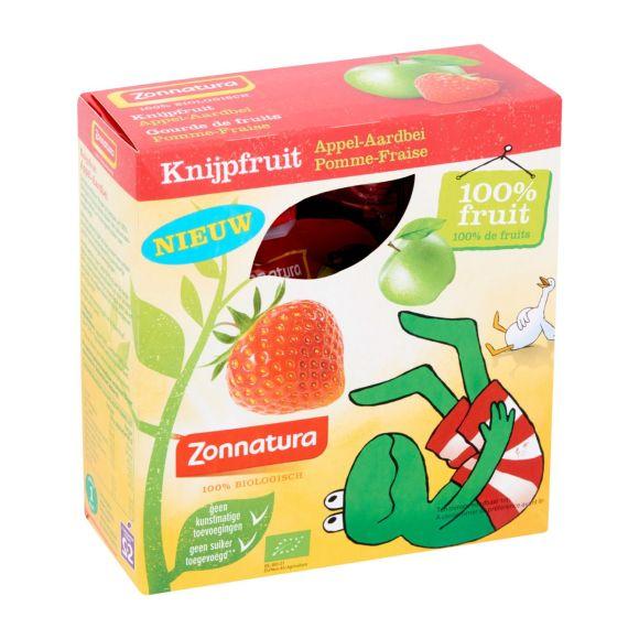 Zonnatura Knijpfruit appel aardbei product photo