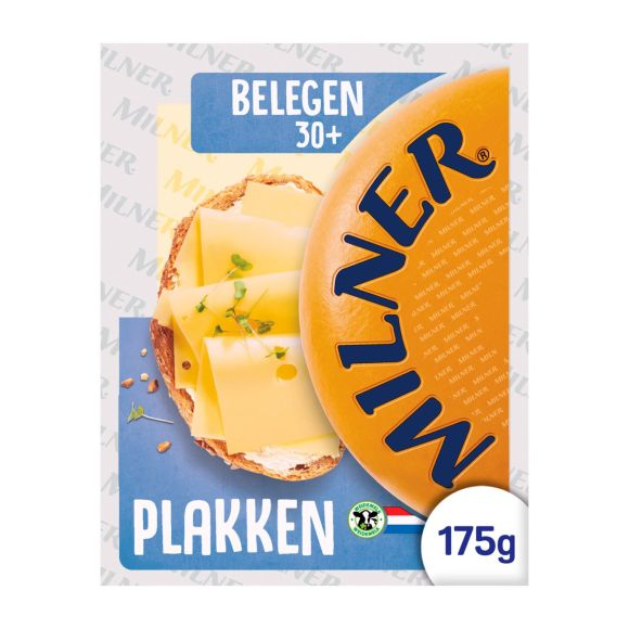 Milner Belegen 30+ kaas plakken product photo