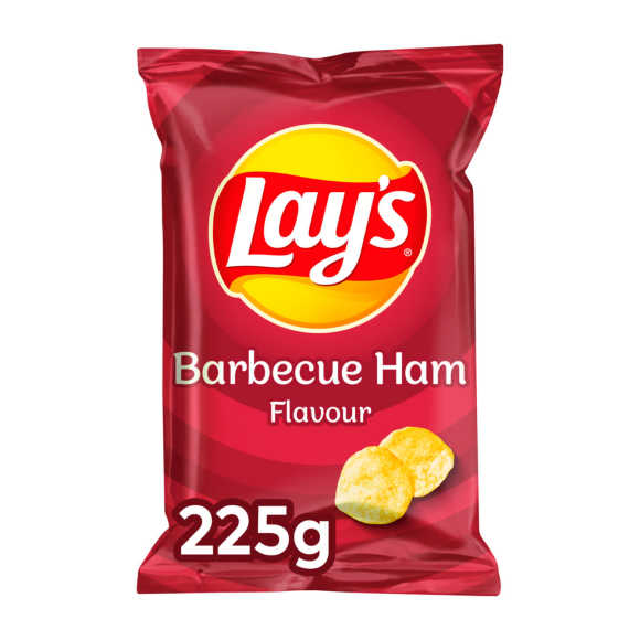 Lay's BBQ ham chips product photo