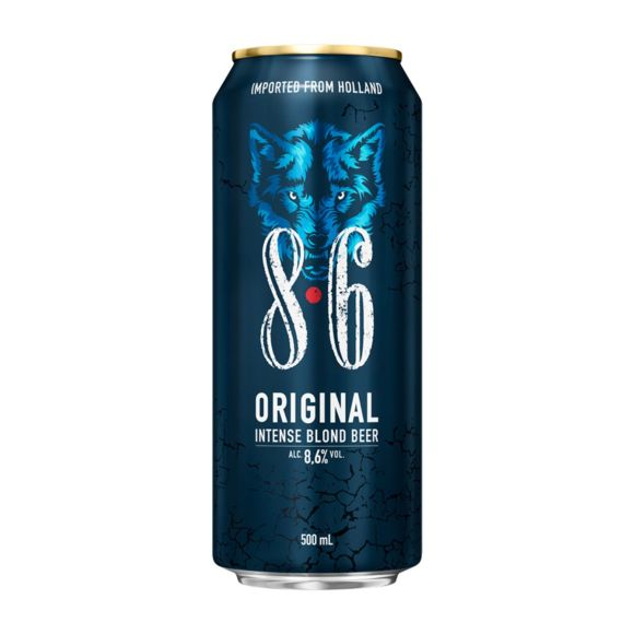 8.6 Original bier blik product photo
