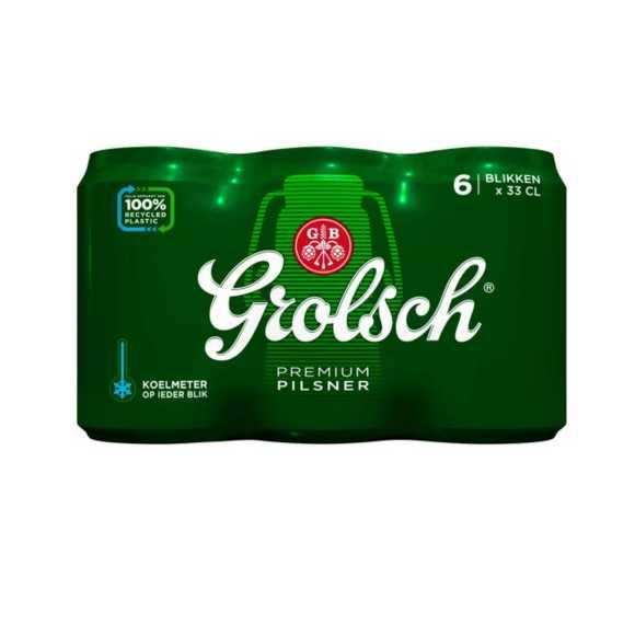 Grolsch Premium pilsner blik 6 x 33 cl product photo