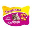 Whiskas Temptations - Kip & Kaas - Kattensnacks - 60 g product photo