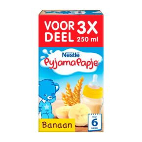 Nestlé Pyjamapapje banaan 3 x 250 ml product photo